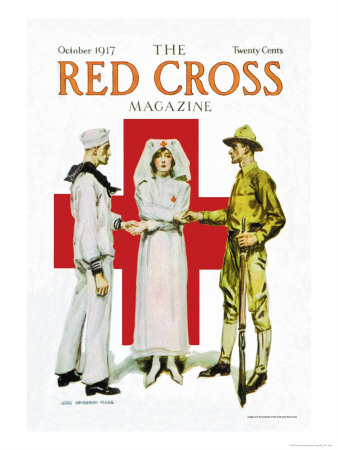 The Red Cross Magazine, October 1917 Prints by James Montgomery Flagg