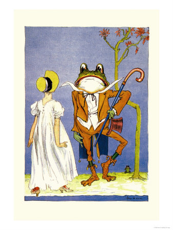 Dorothy and Frogman Print by John R. Neill