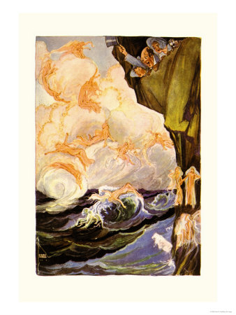 The Cloud Fairies Poster by John R. Neill