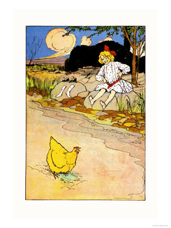 Dorothy and Hen Posters by John R. Neill