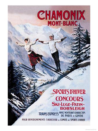 Chamonix Mont-Blanc Plakater af Francisco Tamagno