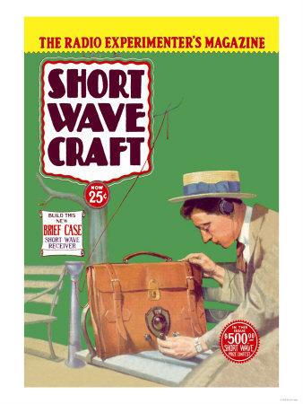Short Wave Craft: Build This New Briefcase Short Wave Receiver Prints