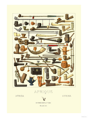 Afrique: Various Pipes Premium Poster