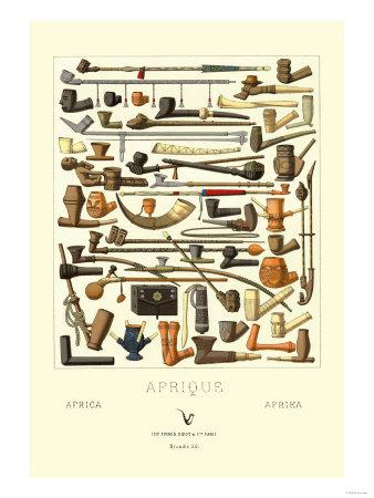 Afrique: Various Pipes Prints