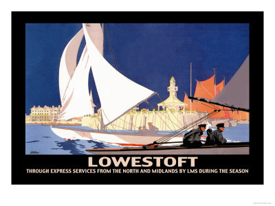 Lowestoft: Through Express Services from the North and Midlands by LMS Premium Poster