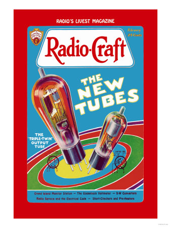 Radio Craft: The Triple-Twin Output Tube Poster