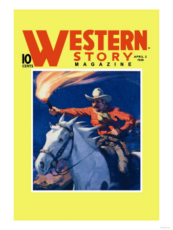 Western Story Magazine: under Fire Poster
