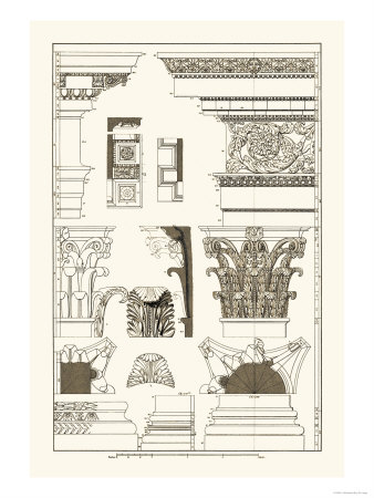 Entablatures, Capitals and Bases Prints by J. Buhlmann