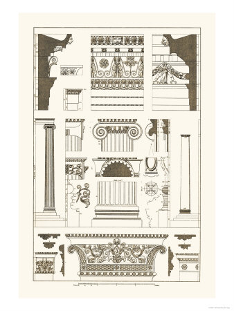 Entablatures and Capitals Prints by J. Buhlmann