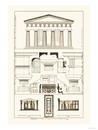 Temple of Poseidon at Paestum Plakater af J. Buhlmann