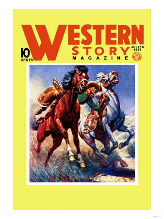 Western Story Magazine: Taming the Wild Posters