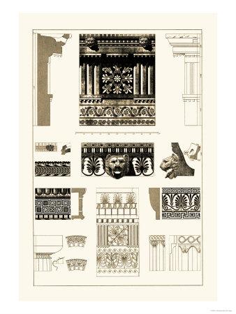 Entablatures, Terracottas and Cymas Prints by J. Buhlmann