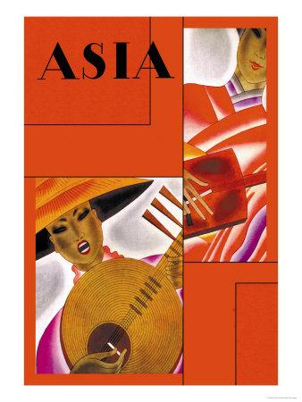Japanese Instrument Player Prints by Frank Mcintosh