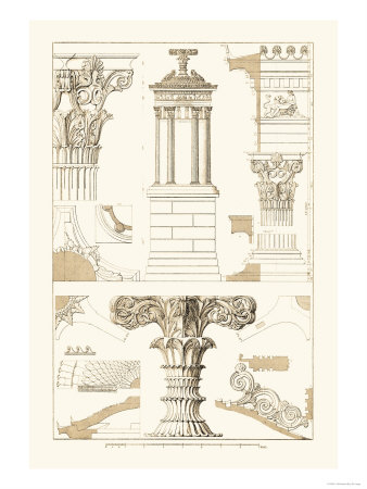 Monument of Lysicrates at Athens Posters by J. Buhlmann
