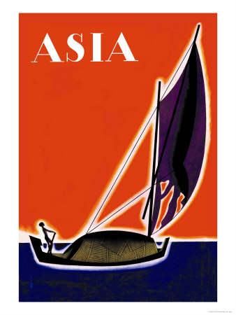 On One of the Seven Seas Posters by Frank Mcintosh