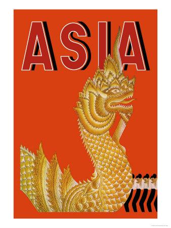 Dragon Temple of Siam Print by Frank Mcintosh
