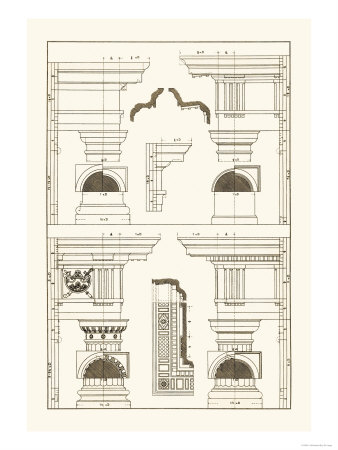 Doric and Tuscan Orders Posters by J. Buhlmann