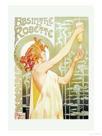 Absinthe Rebette Prints by Privat Livemont