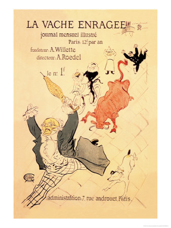 La Vache Enragee Prints by Henri de Toulouse-Lautrec