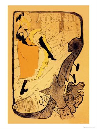 The Performance of Jane Avril Pósters por Henri de Toulouse-Lautrec