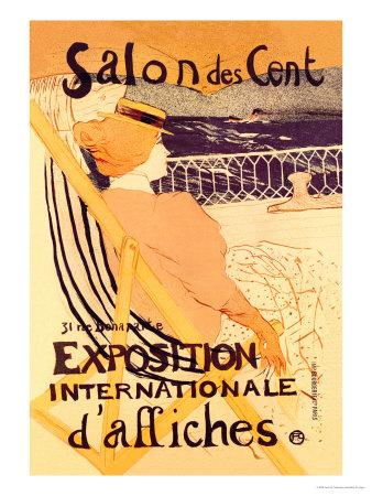 Salon des Cent: Exposition Internationale d'Affiches Posters by Henri de Toulouse-Lautrec