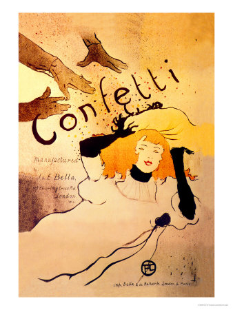 Confetti Posters by Henri de Toulouse-Lautrec