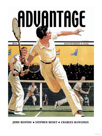 Men Play Tennis Posters