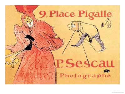 P. Sescau: Photographe Poster by Henri de Toulouse-Lautrec