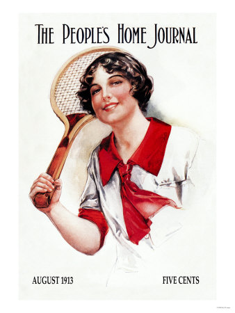 The People's Home Journal: Tennis Poster