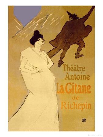 La Gitane de Richepin: Theatre Antoine Arte por Henri de Toulouse-Lautrec