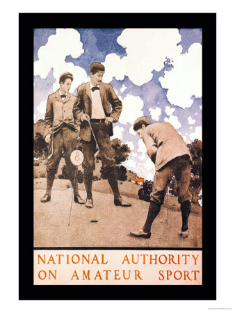 National Authority on Amateur Sport Poster by Maxfield Parrish