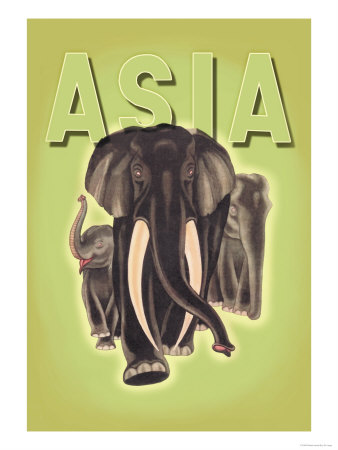 Indian Elephants Prints by Robert Harrer