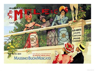 The Great Italian Store and Emporium, E. A. Mele Poster by Aleardo Villa