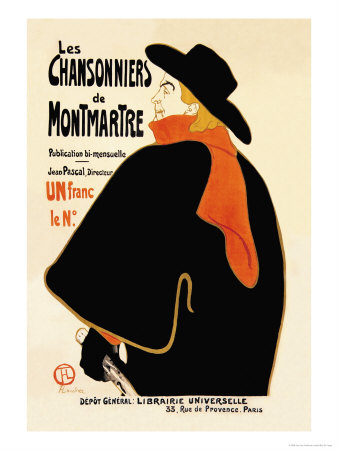 Les Chansonniers de Montmartre Prints by Henri de Toulouse-Lautrec