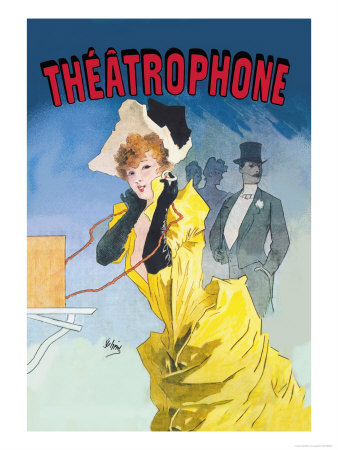 Theatrophone Poster by Jules Chéret