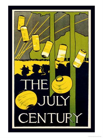 The July Century Print by Charles Herbert Woodbury