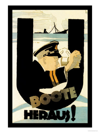The U-Boats Are Out Print by Hans Rudi Erdt