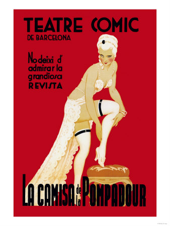 La Camisa de la Pompadour Premium Poster