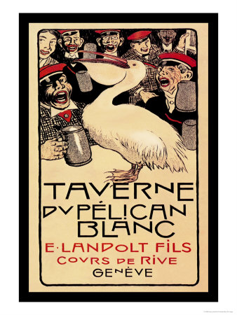 Taverne du Pelican Blanc Posters by Henry-claudius Forestier