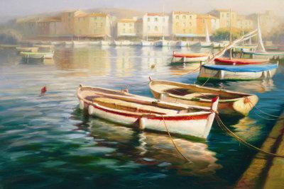 Harbor Morning I Art by Roberto Lombardi