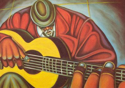 Bluez Man II Art by Cbabi Bayoc
