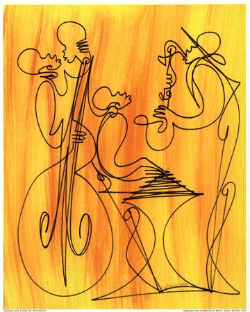 Musical Love Print by  Sir Shadow