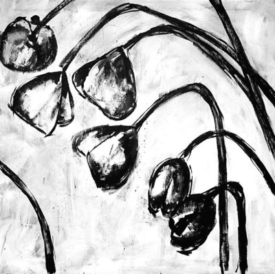 black and white art pictures. Black and White Poppies II