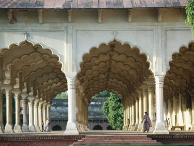 Arches, the Red Fort, Agra, Unesco World Heritage Site, Uttar Pradesh State, India, Asia Photographic Print by Occidor Ltd