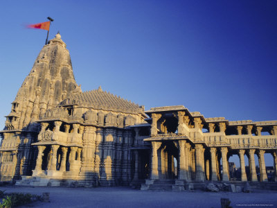 Hindu Temple of Somnath, One of the Twelve Most Sacred Siva Temples, Somnath, Gujarat State, India Photographic Print by John Henry Claude Wilson