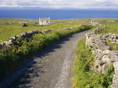 Country Road, Inishmore, Aran Islands, County Galway, Connacht, Republic of Ireland (Eire), Europe Stampa fotografica di Ken Gillham