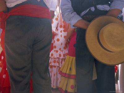 Details of Dress, Romeria Del Rocio Festival, El Rocio, Andalucia (Andalusia), Spain, Europe Photographic Print by Gavin Hellier