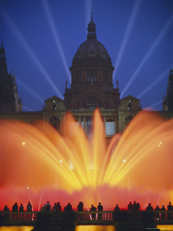 Grand Fountain and National Museum, Barcelona, Spain Photographic Print by Gavin Hellier