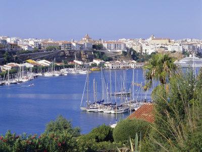 Mahon Harbour, Menorca, Baleares Islands, Spain Photographic Print by R Richardson R Richardson