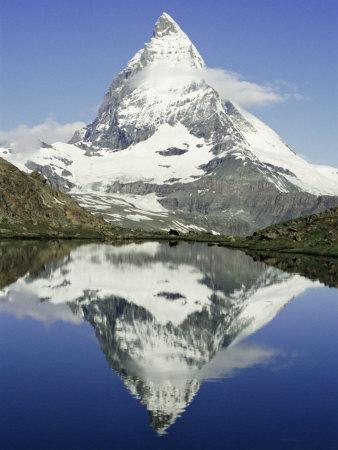 The Matterhorn Mountain, Valais (Wallis), Swiss Alps, Switzerland, Europe Photographic Print by Charles Bowman